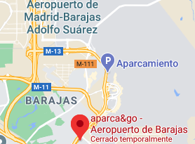Mapa Parking Aeropuerto de Madrid Barajas